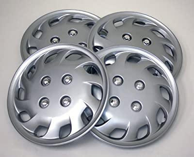 TuningPros WSC-501S14 Hubcaps Wheel Skin Cover 14-Inches Silver Set of 4