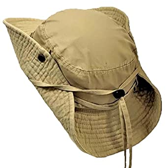 Luxury Divas Beige Cotton Safari Hat With Chin Cord Amp Snap