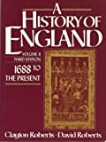 History of England: 1688 to the Present, Vol. II (0133904105) by Roberts, Clayton