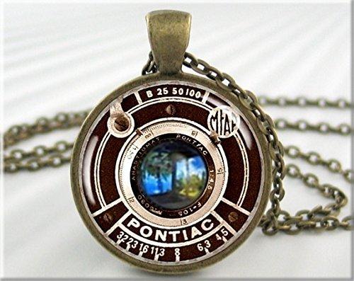Vintage Camera Pendant Necklace Charm Pontiac Camera Lens Jewelry (Pontiac Charm compare prices)