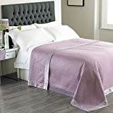 Paoletti Dimity Sateen Quilted Bedspread, Mauve