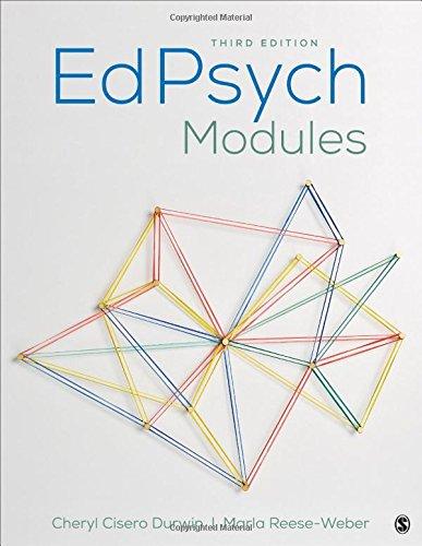 EdPsych Modules [Durwin, Cheryl Cisero - Reese-Weber, Marla J.] (Tapa Blanda)