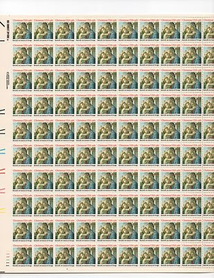 Boticelli Madonna & Child Sheet of 100 x 20 Cent US Postage Stamps NEW Scot 1939