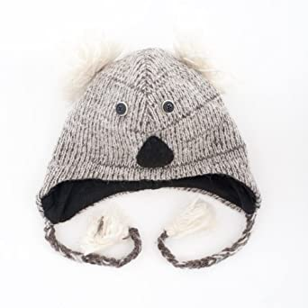 Koala Knitted Nepal Animal Hat: Amazon.co.uk: Clothing