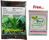 SEED Seller: Ladies Finger Okra Bhindi Seeds S-51 - Excellent yielder and good keeping quality fruits. Suitable for Commercial cultivation and Kitchen Gardening, easy to grow in Plant containers and Grow bags (200)