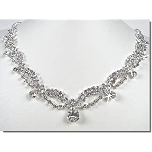 Bridal Crystal Necklace Set N1D74