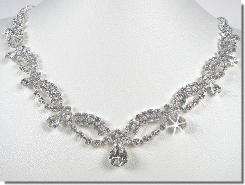 SparklyCrystal Bridal Crystal Necklace Set N1D77