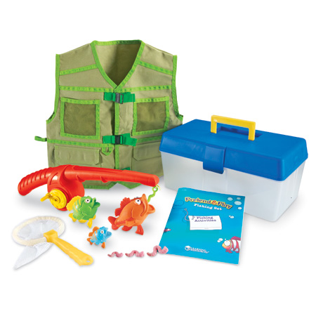 Learning resources pretend play fishing set kids game for How do you play go fish
