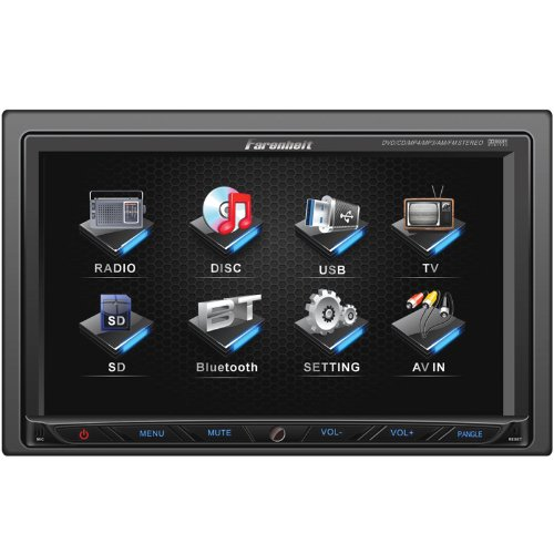 Farenheit Ti-762 2-Din Multimedia Source Unit With Motorized 7-Inch Lcd Touch Screen