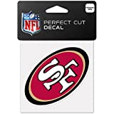 "NFL San Francisco 49ers 63074011 Perfect Cut Color Decal, 4"" x 4"", Black"
