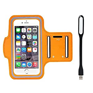 New Hot (4.7) Arm Band Workout Cover Sport Gym Case For Gionee Elife E7 Mini With USB Led Light