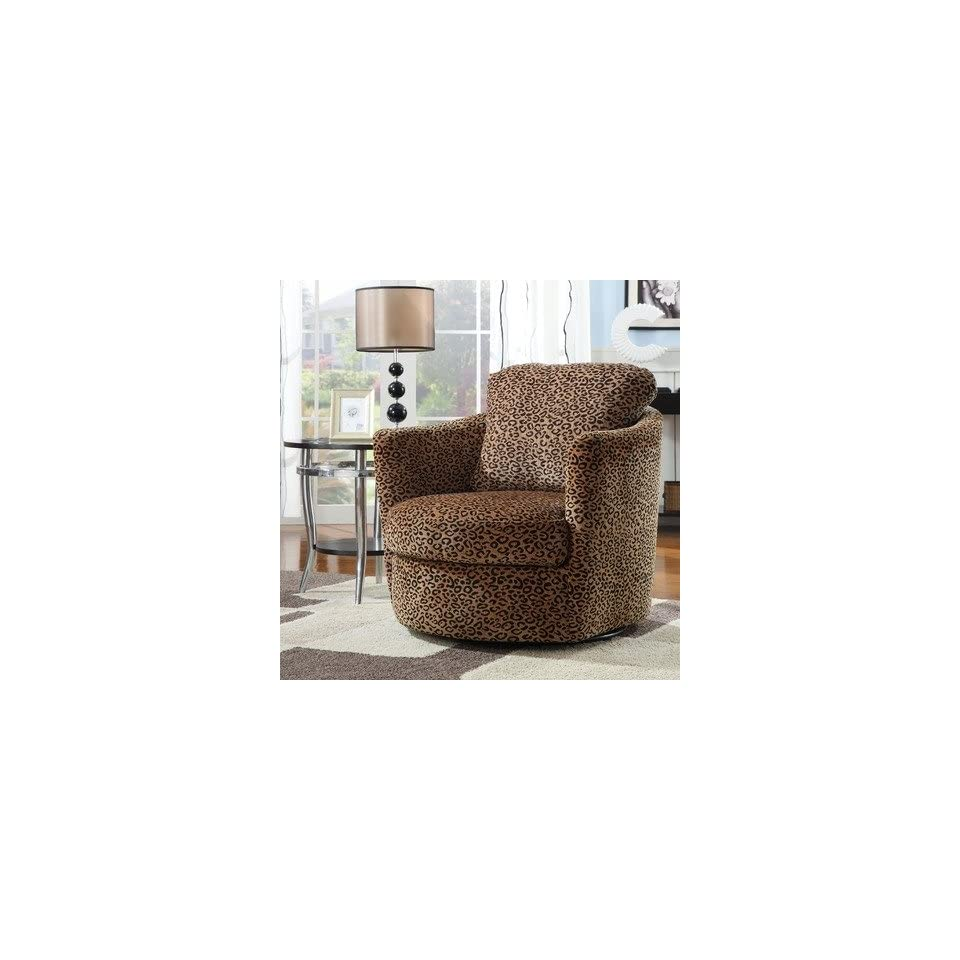 Fabulous Coaster 900195 Swivel Patterned Accent Chair Leopard On Beatyapartments Chair Design Images Beatyapartmentscom
