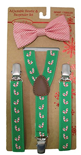 Rising Star Adjustable Christmas Suspenders and Bowtie Set - Infant/toddler [5012]