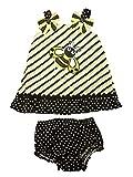 Youngland Infant Girls Black & Yellow Bumblebee Striped Dress Sundress 12 Months