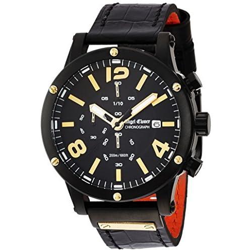 [エンジェルクローバー]Angel Clover 腕時計 エクスベンチャー ブラック文字盤 ステンレス(BKPVD) クロノグラフ デイト EVC46BBK-BK メンズ