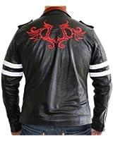 Alex Dragon Game Jacket - Black PU Leather Jacket