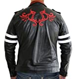 Alex Dragon Game Jacket – Black PU Leather Jacket by NYC Leather Factory Outlet
