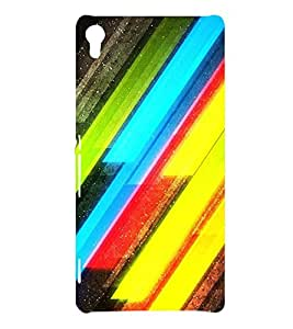 MODERN ART SLANTING LINES PATTERN IN A BLACK BACKGROUND 3D Hard Polycarbonate Designer Back Case Cover for Sony Xperia XA