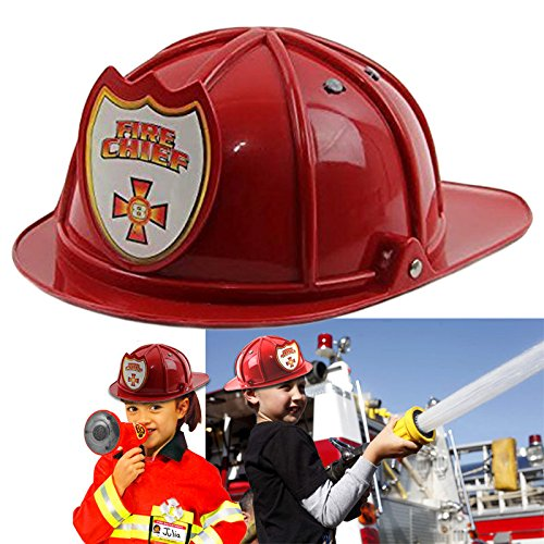 Dazzling Toys Firefighter Chief Hat - Stiff Plastic