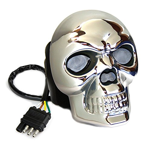 Reese Towpower 86523 Hitch Cover (Skull Lighted Chrome Finish) (Reese Receiver Hitch Cover compare prices)
