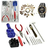 Image of 16PC Watch Repair Tool Kit Band Pin Strap Link Remover Back Opener Screwdrivers Tweezers Kit