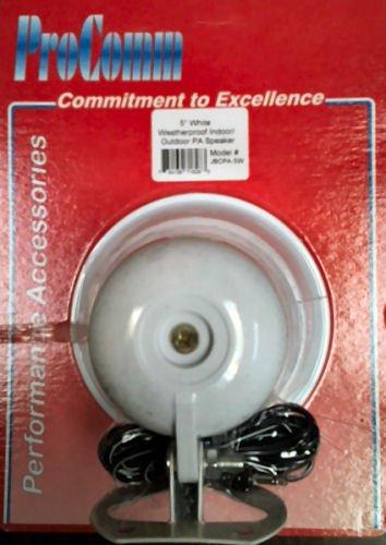 "Procomm 5"" Pa Horn, White Pbs Plastic (15-Watt)"