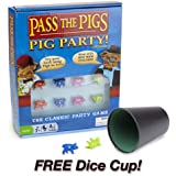 Pass The Pigs Pig Party Edition Plus FREE Dice Cup
