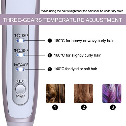 KINGDOMCARES-Salon-Fast-Natural-Straight-Hair-Straightener-Brush-Fastest-Heating-Detangling-Styling-PTC-Hair-Straightening-Brush-3-Levels-Anti-Scald-Comb-Purple-Anti-Static-Ceramic-Hair-Straighteners