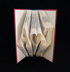 A ♥ J or Other Initials Folded Book Art Sculpture (personalized, you choose letters)