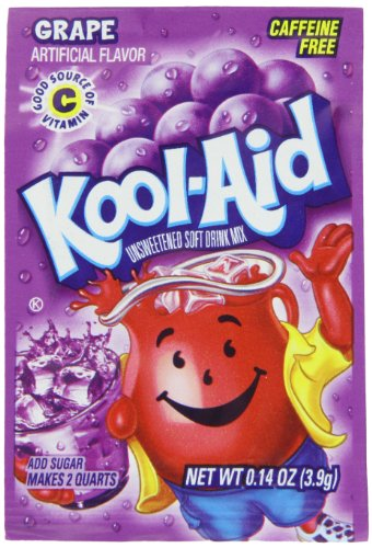 Kool-Aid Grape Unsweetened Soft Drink Mix, 0.14-Ounce Packets (Pack Of 96)