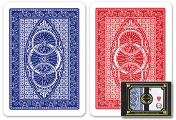 Da Vinci Ruote, Italian 100% Plastic Playing Cards, 2-Deck Set by Modiano, Regular Index