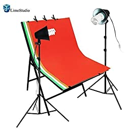 LimoStudio Photography Photo Studio Color Background Foldable Photo Shooting Table with Continuous Lights Kit , AGG1475