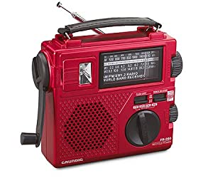 Grundig FR200 Emergency Radio (Red) (Discontinued by Manufacturer)
