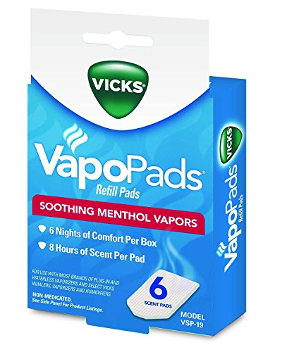Vicks VapoPads, 6 count refill pads, VSP-19 (Humidifier No Filter Vicks compare prices)
