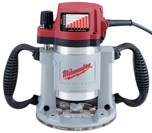 Milwaukee 5625-20 15 Amp 3-1/2-Horsepower Fixed Base Variable Speed Router with T-Handle Height Adjustment Wrench