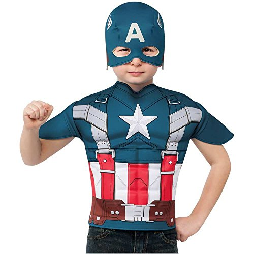 Retro Captain America Kids T-Shirt and Mask - One Size