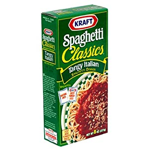 Kraft Spaghetti Classics, Tangy Italian Spaghetti Spice Mix & Parmesan Cheese, 8-Ounce Boxes (Pack of 24) from Kraft Foods