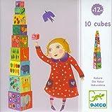 Djeco Nature & Animal Blocks - 10 Stacking Blocks