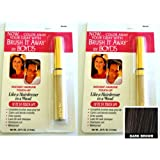 Renoir x2 Brush It Away Instant Hairline Touch-up Dark Brown + 7in Brilliance Comb