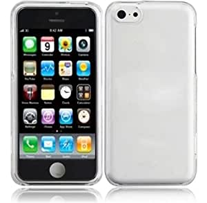 HR Wireless Transparent Hard Cover Snap-On Case for iPhone 5C - Retail Packaging - Clear