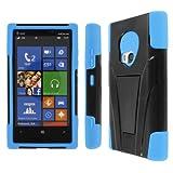 Mpero Impact X Series Kickstand Case for Nokia Lumia 920 - Black/Blue