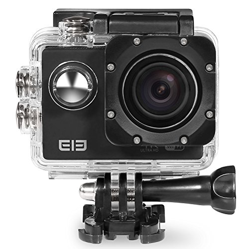 Elephone ELE CAM Explorer WiFi Sports Action Video Cameras Waterproof 16MP 4K 1080P 64GB 170 Degree Wide Angle Lens H.264 HDMI Output Shockproof Outdoor Camcorder Car DVR Ultra HD 2.0-inch LCD(Black)