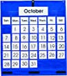 Monthly Calendar Pocket Chart With Grommets, 25 X 28-1/2