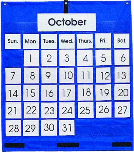 Carson Dellosa Monthly Calendar Pocket Chart Pocket Chart (5605) (Number Cards For Calendar compare prices)