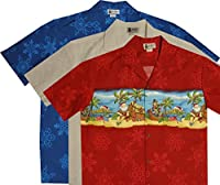 EXCLUSIVE Men's Women's Christmas Aloha Hawaiian Shirt Santa Reindeers Gifts