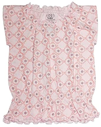 Egg by Susan Lazar Jersey Smocked Top - Pink-12-18 Months