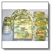 16 Party Military Camouflage Party Supplies