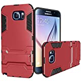 Galaxy Note 5 Case, [Heavy Duty] Galaxy Note 5 Cases with Kickstand [Dual Layer] Hard Case Cover Protective Bumper Skin for Samsung Galaxy Note 5, Black/Red