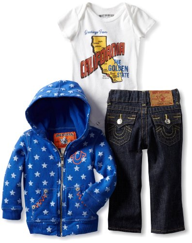 True Religion Baby-Boys Infant Three Piece Gift Box Set, Royal Blue, 12-18 Months  Review