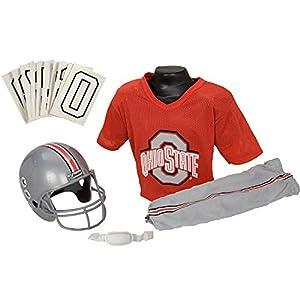 Franklin Sports NCAA Ohio State Buckeyes Deluxe Youth Team Uniform Set, Medium